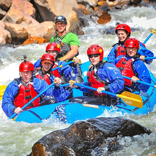 Timberline Tours Whitewater Rafting The Numbers on the Arkansas River near Vail Colorado - photography by Doug Mayhew | WhiteWater-Pix.com