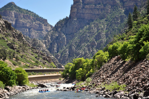 Whitewater Rafting Colorado in Shoshone Rapid | Rapid Image Photography