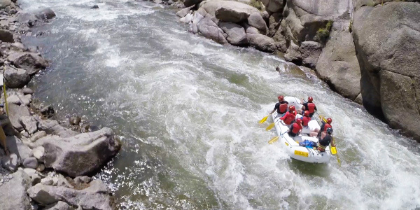 whitewater rafting colorado through Browns Canyon