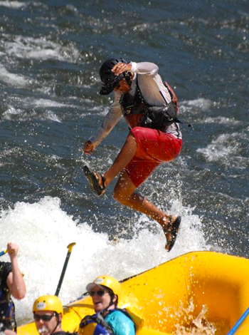 Whitewater Rafting Self-Rescue