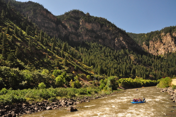 Colorado River Shosone Rapid Glenwood Springs